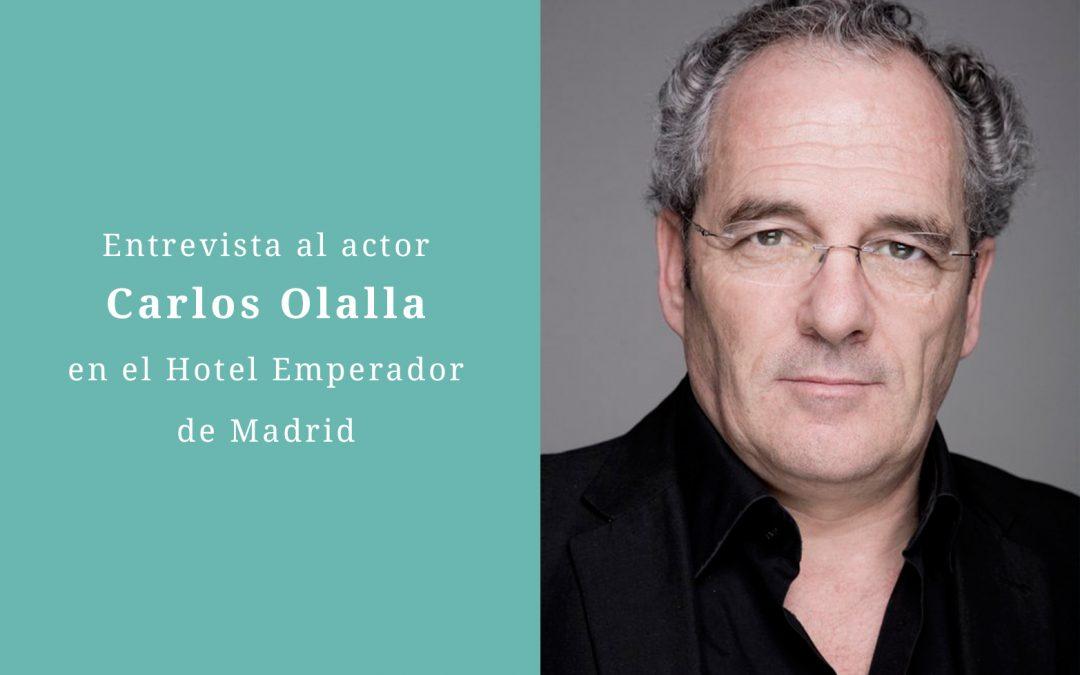 Entrevista a Carlos Olalla en el Hotel Emperador